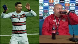 Russia coach ignores Ronaldo's message after finding bottle of Coca-Cola at Euro 2020 press conference