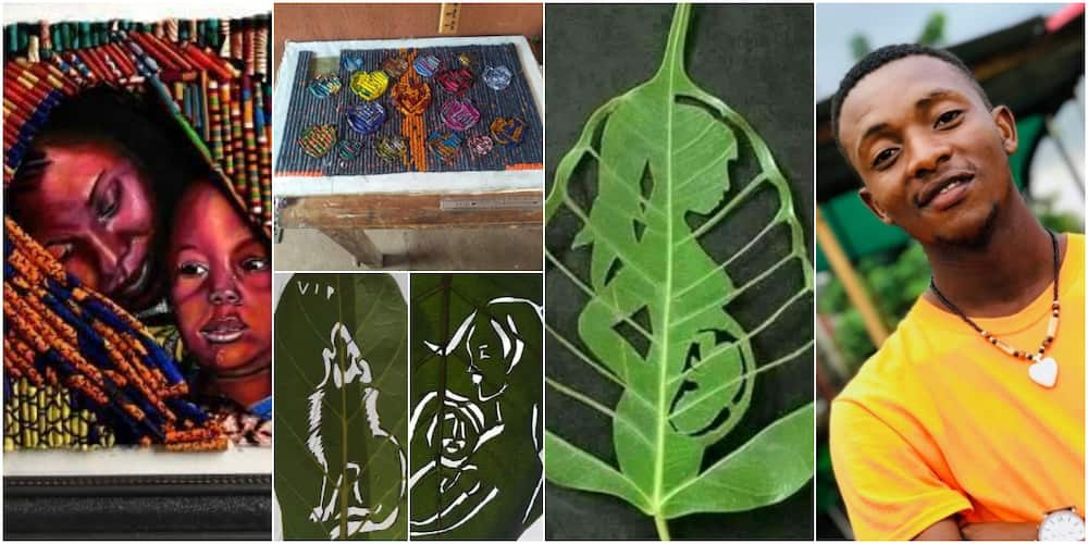 Nigerian man who uses wasted materials for art work