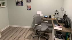 Lovely husband builds office inside their house for his wife, photo stirs massive reactions