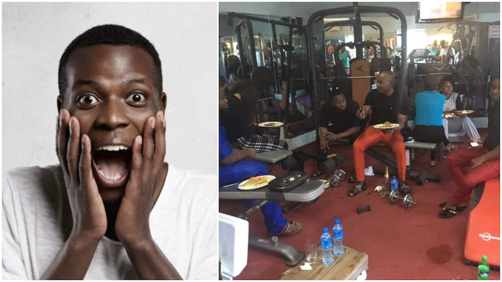 Photo of People Eating and Drinking in a Gym Instead of Working Out Stirs Massive Reactions