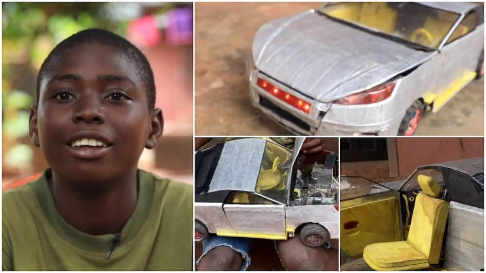 I build Lamborghini 2021 toy can in 1 month, 2 days - 15-year Ikechukwu says