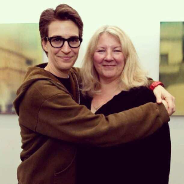Rachel Maddow and Susan Mikula