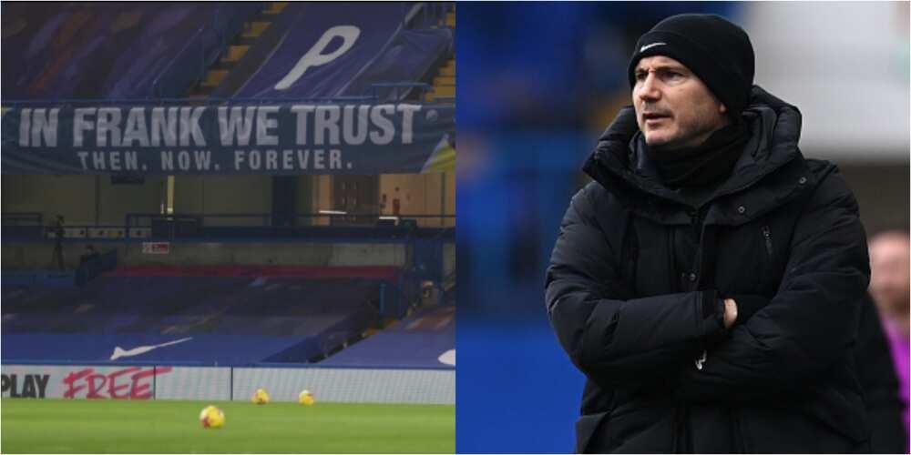 Chelsea remove banner praising Lampard at Stamford Bridge in honour of new manager Tuchel