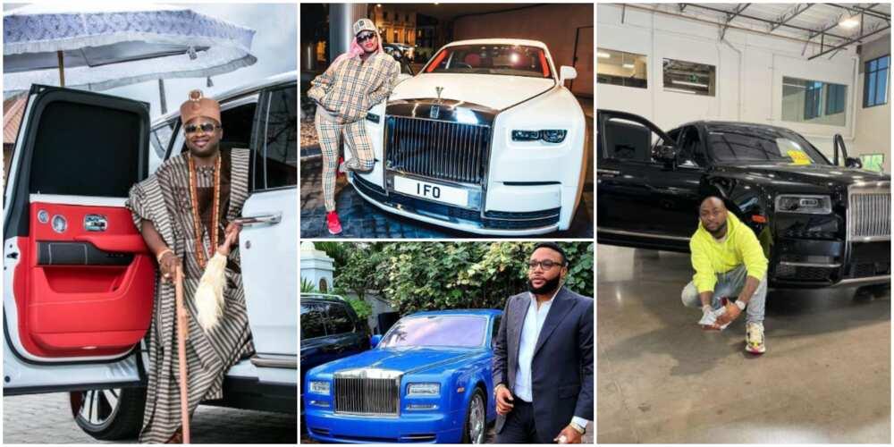 Davido, Femi Otedola and 6 Other Nigerian Celebrities Who Own a Rolls Royce