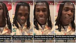 African Giant turn princess: Burna Boy shaves off beards, flaunts new look in video