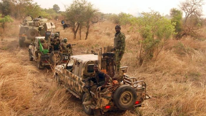 Dangerous weapons recovered as Troops kill 2 Boko Haram terrorists, rescue 2 aged women in Borno