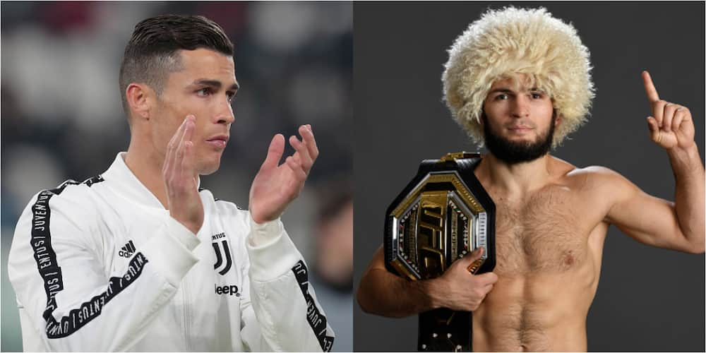 Cristiano Ronaldo pays tribute to undefeated UFC star Khabib after announcing retirement