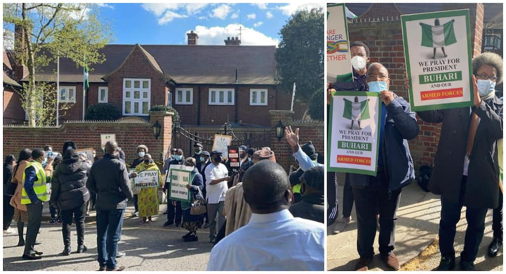 Support for Buhari in Nigerian House London on April 5