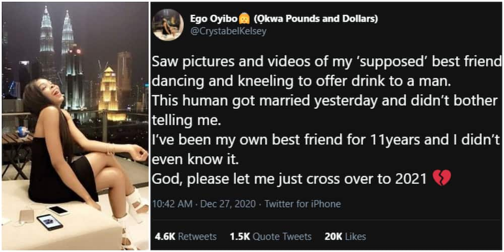 Lady reveals her best friend of 11 years got married without telling her because she was angry