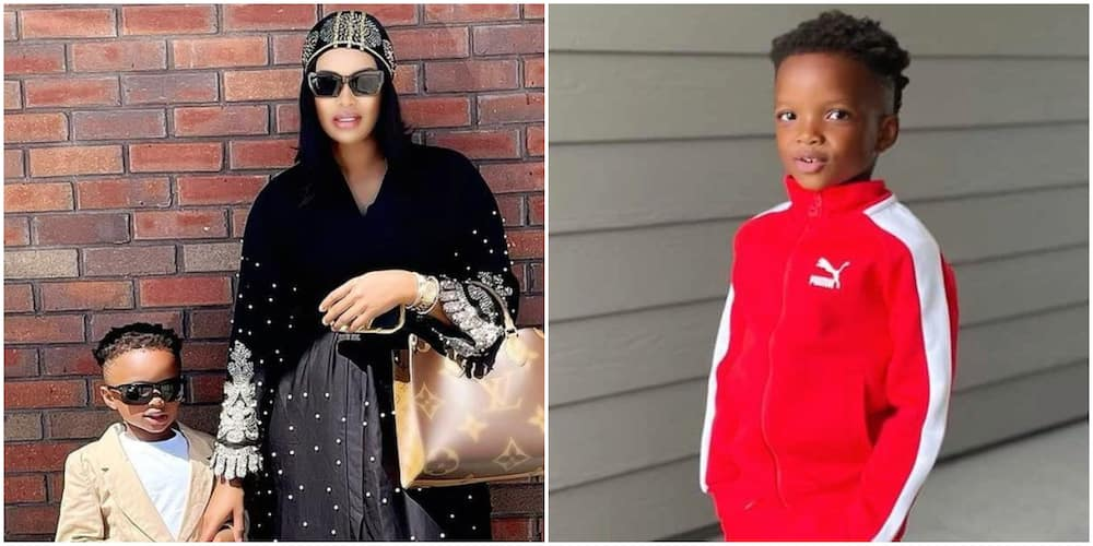Wizkid's 2nd baby mama and her son