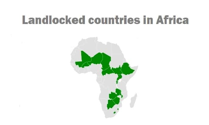 Landlocked countries in Africa and their capitals