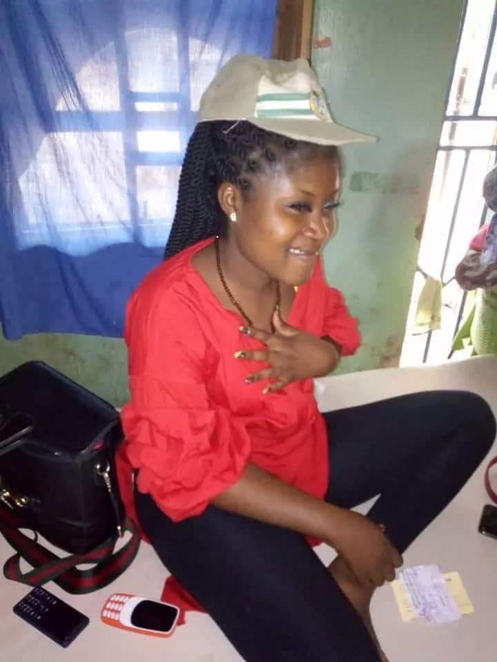 Corps member escapes death as she praise God after road accident (photos)