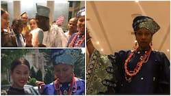Famous Nollywood actress spotted with Ooni of Ife in U.S, she was with her daughter (photos)