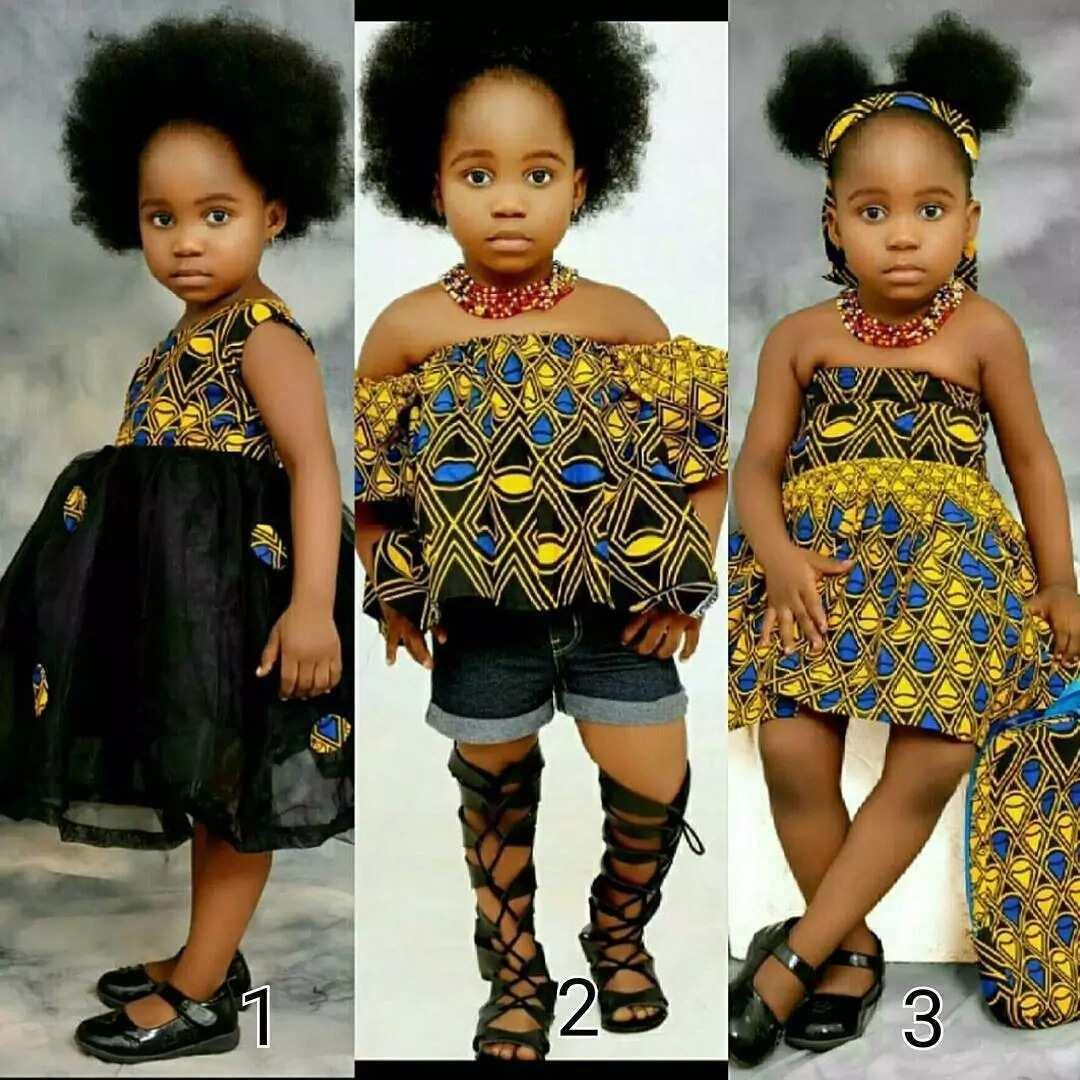 Ankara mixed styles for girls