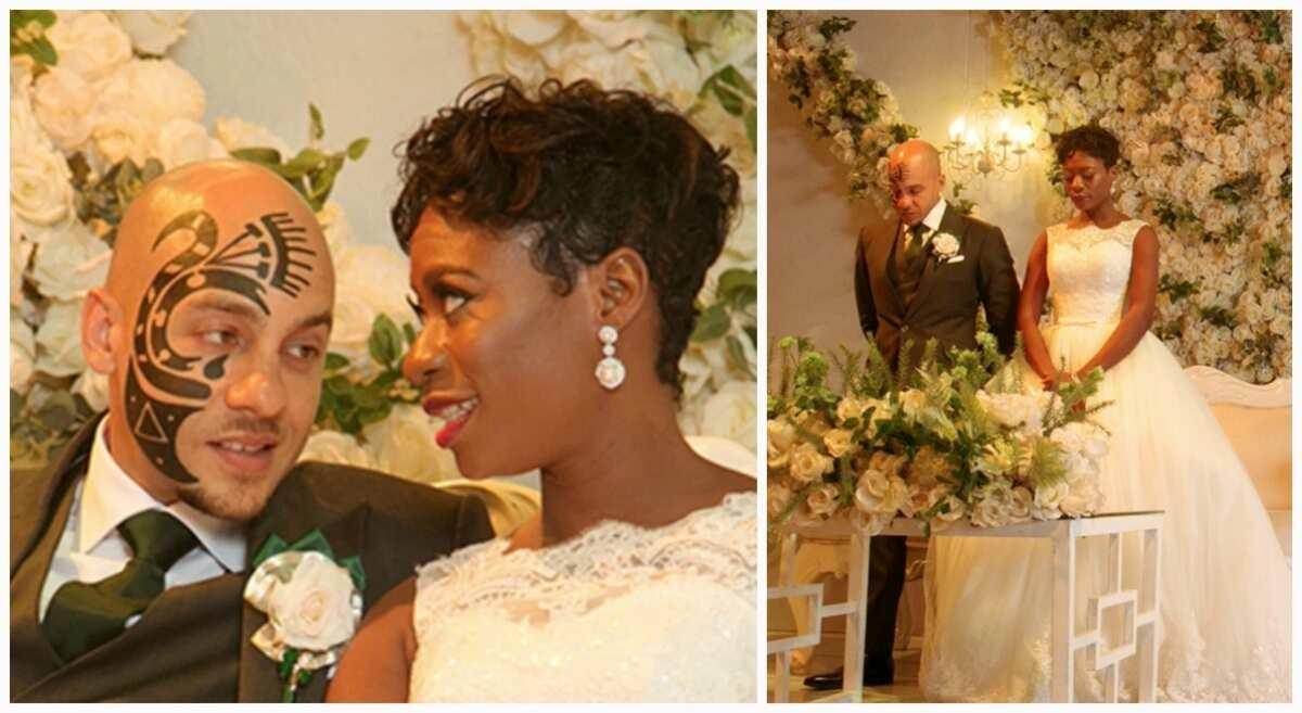 DJ Sose white wedding