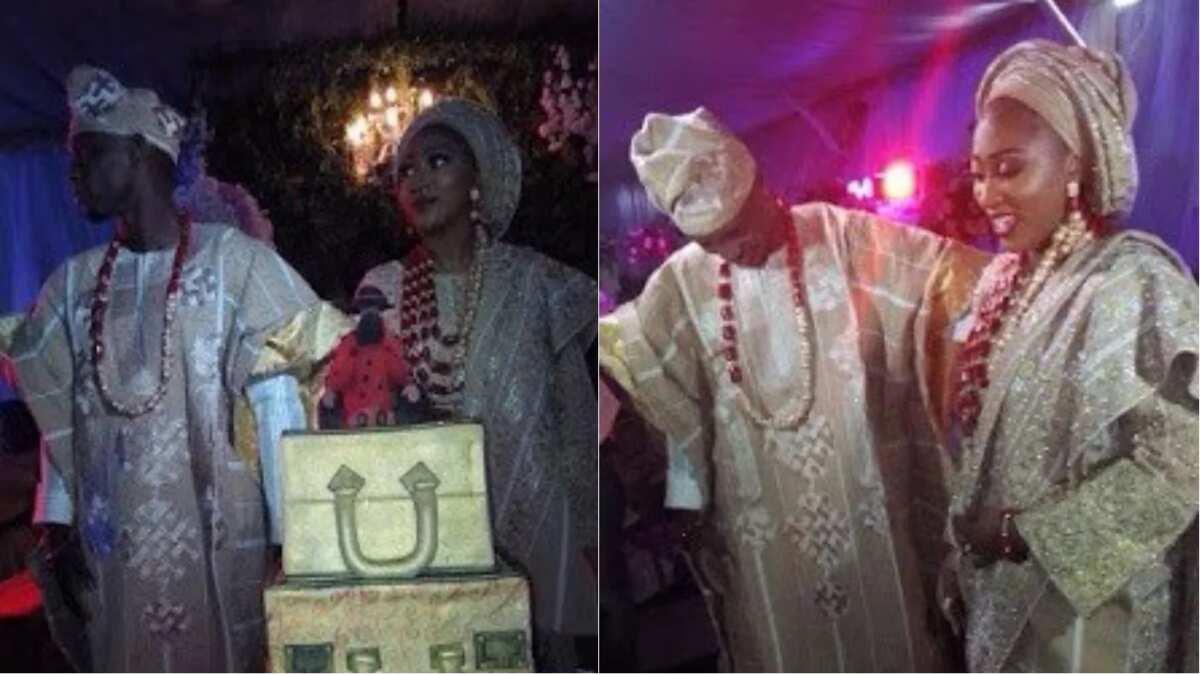 Super Eagles striker, Anthony Ujah's traditional wedding Source: HB Pixels