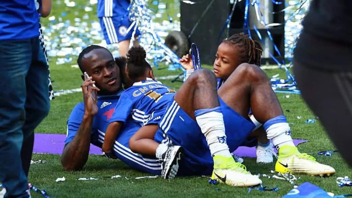Victor Moses and his kids