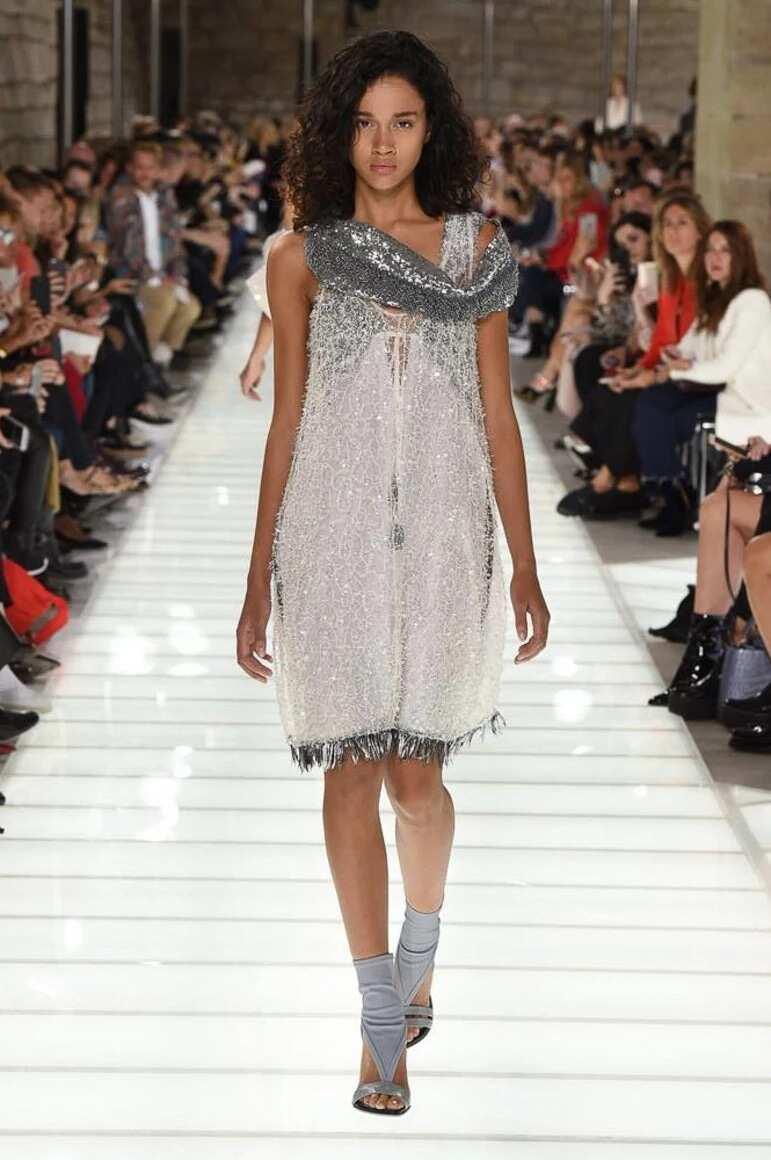 Short shiny dress
