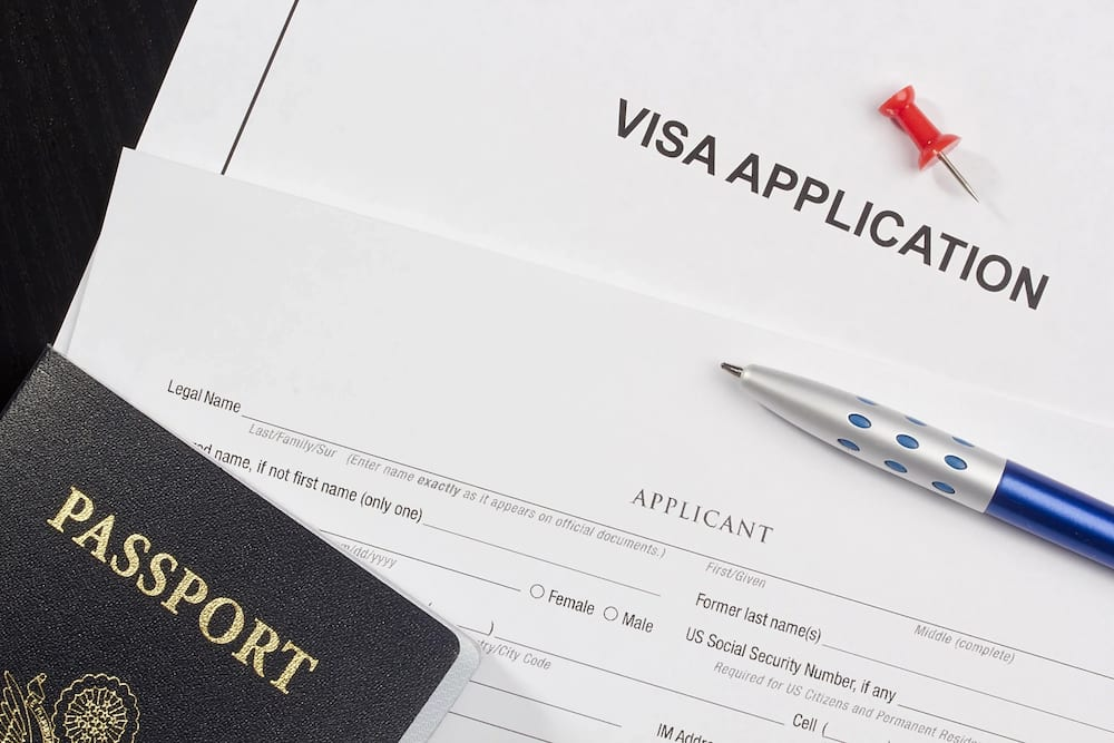 Visa Application on paper