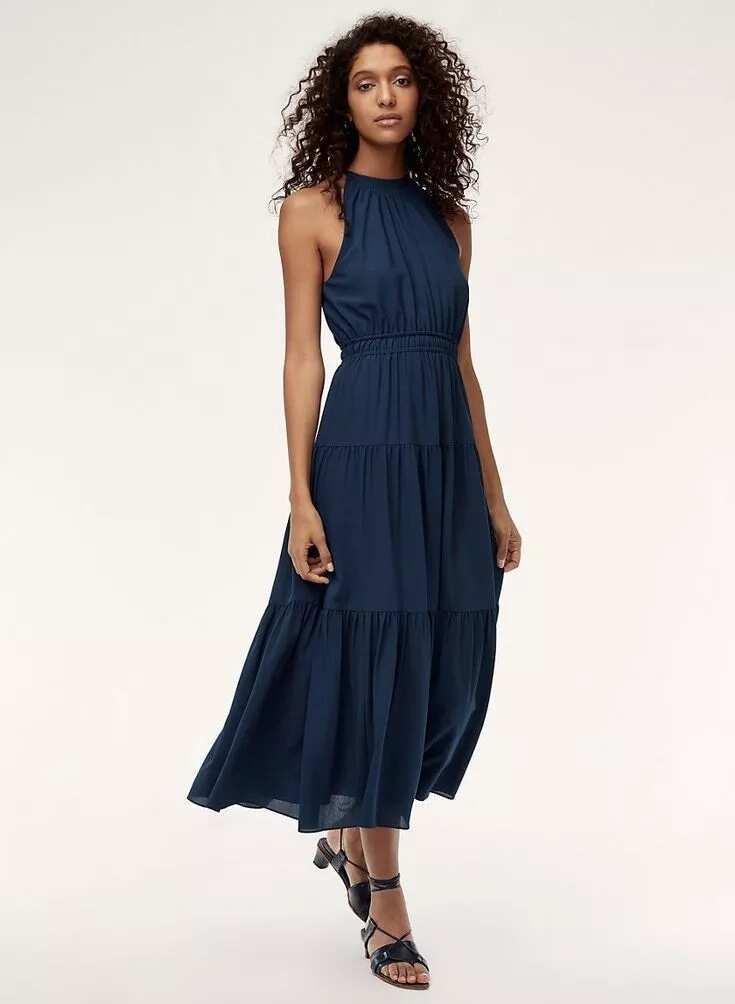 Chiffon raglan long gown