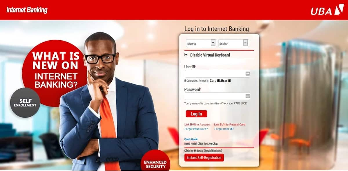 How to register for UBA internet banking?