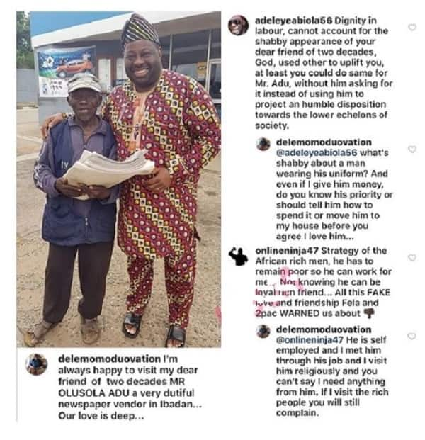 Nigerians slam Dele Momodu for showing off his friend of 20 years