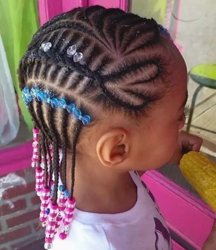 Heart patterned braids