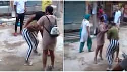 Man expresses disappointment after spotting two Nigerian ladies fighting in India (video)