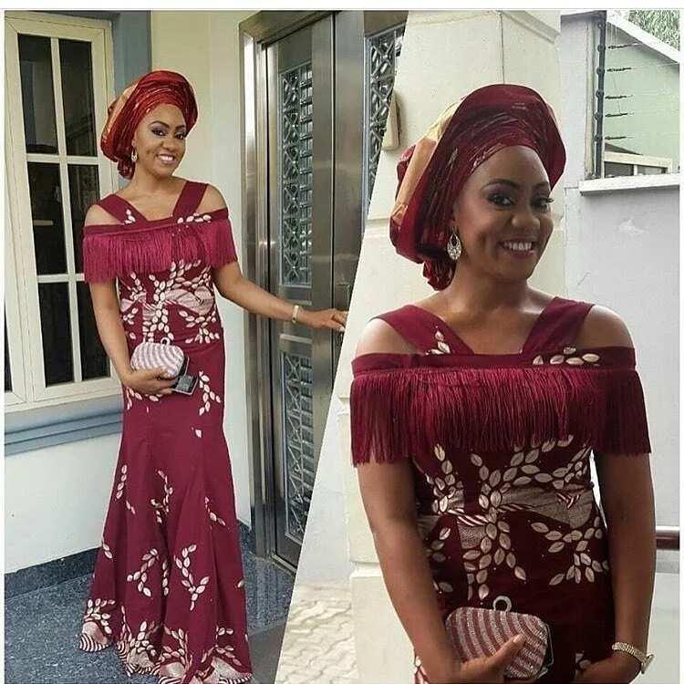 Aso Ebi dress with fringe