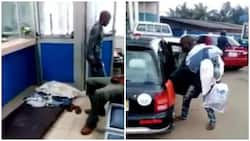 Watch video of how man stormed bank with pillow and mattress over inability to withdraw cash
