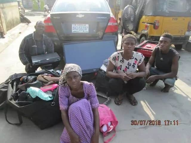 Police arrest couple, son and his girlfriend in Lagos for alleged stealing