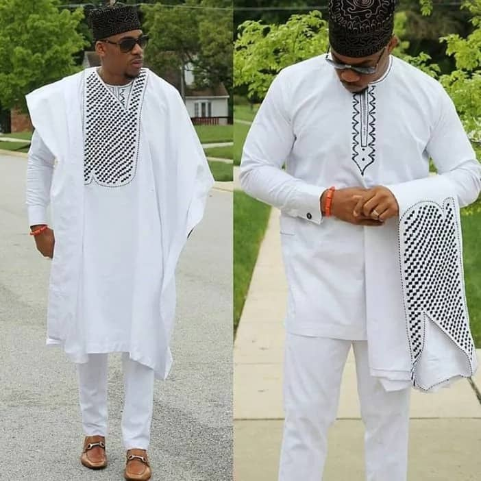 Aso Ebi outer robe and undershirt