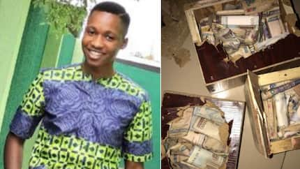 Nigerian man is excited as he saves N306,415 in his piggy banks in just 10 months (photos)