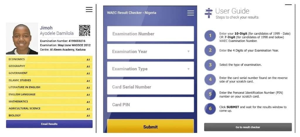 How to check gce result on phone