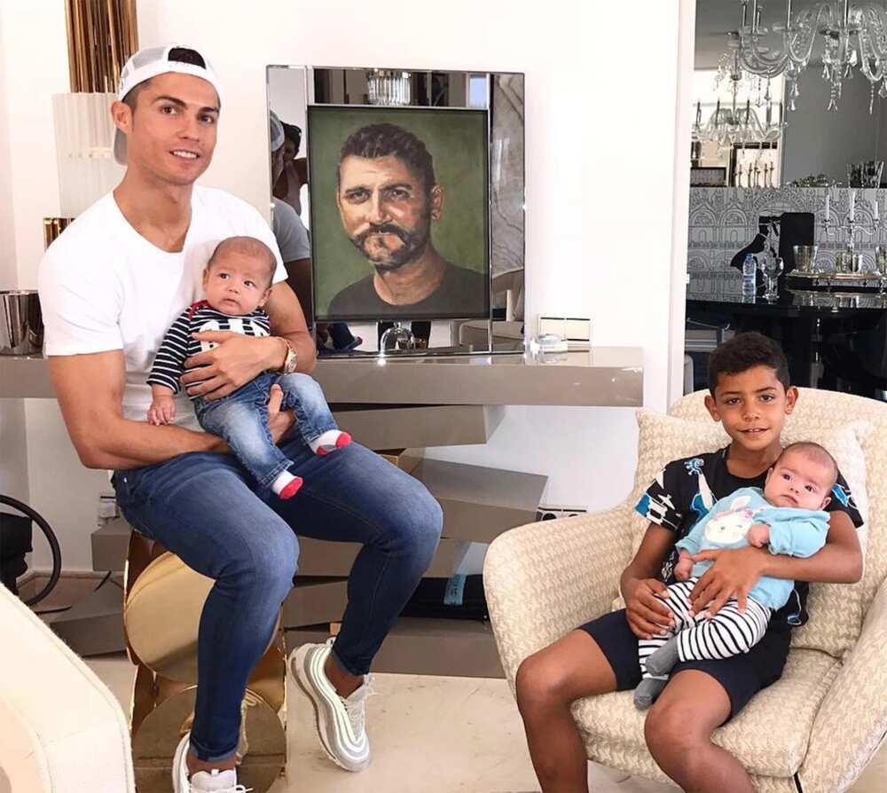 Cristiano Ronaldo sons Cristiano and Mateo
