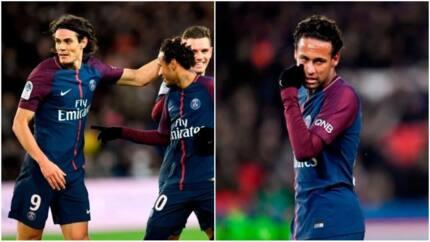Neymar scores 4 goals but PSG fans still boo him because of Edison Cavani