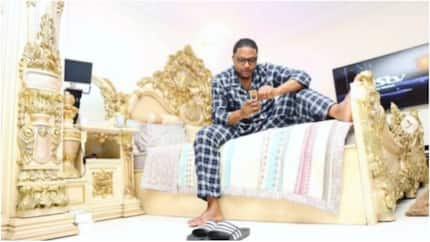 E-Money shows off his royal bedroom, dazzles his fans with it (photos)