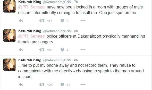 CNN reporter Katurah King harassed in Senegal airport (photos)