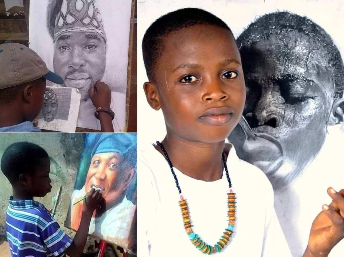 Kareem Waris artwork: 11-year-old Nigerian artist is gaining