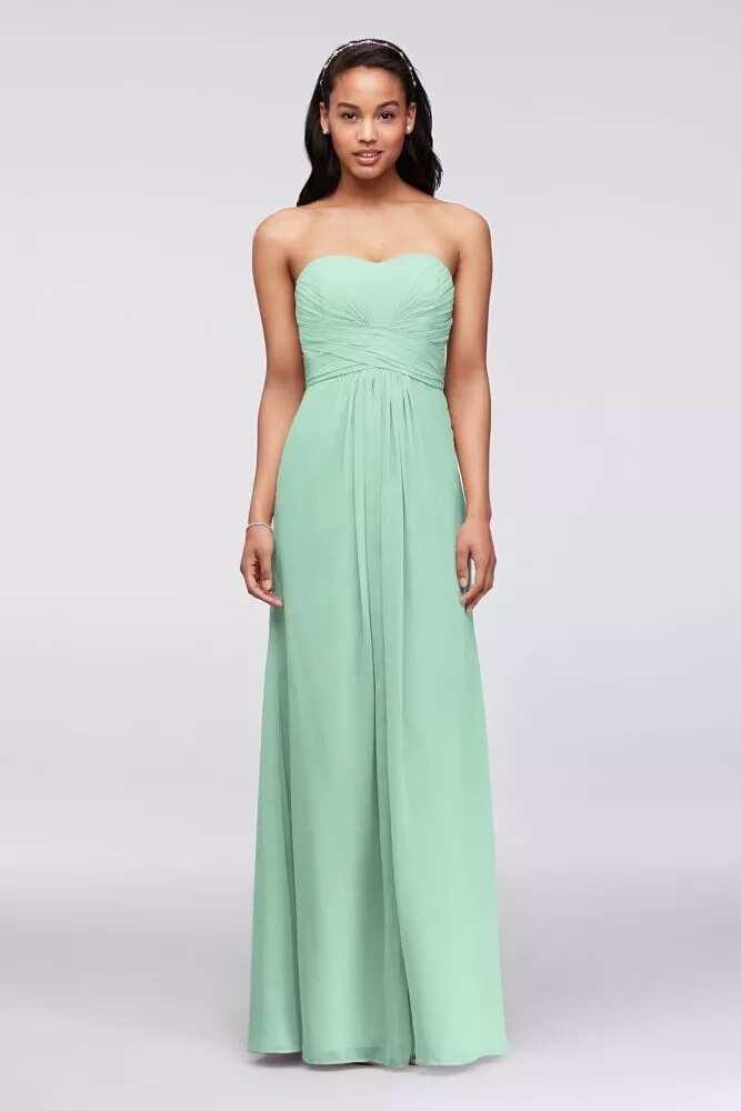 Chiffon plain maxi gown