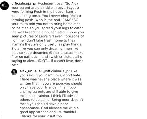 Instagram user trolls Alex her for coming from a poor home, she replies