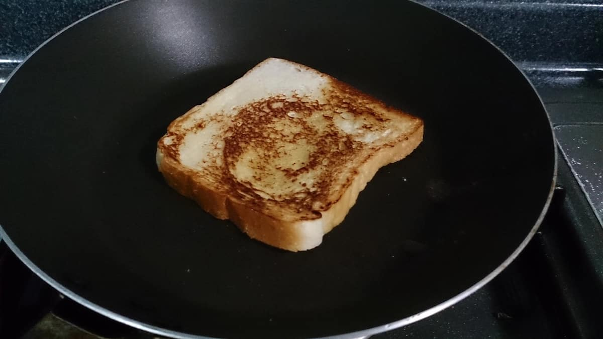 Toast on the skillet