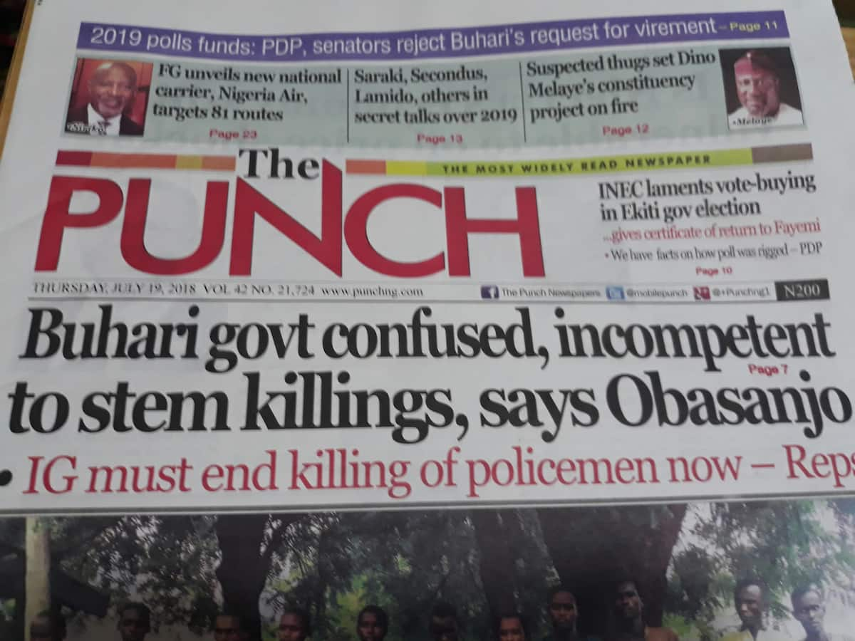 The Punch Newspapers