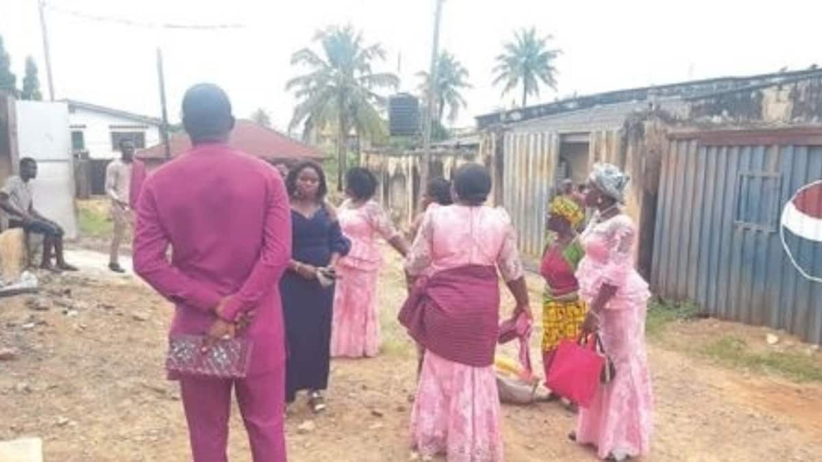 Drama, confusion as bride's father calls off wedding on D-day (photos)
