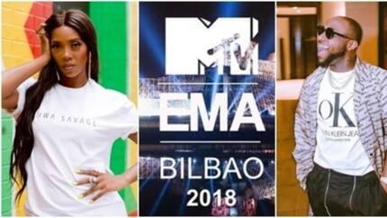 Nigerian acts, Tiwa Savage and Davido make it to MTV EMA 2018 nomination list