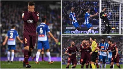 Messi misses crucial penalty as Barcelona suffer 1st defeat in 29 games against city rivals Espanyol