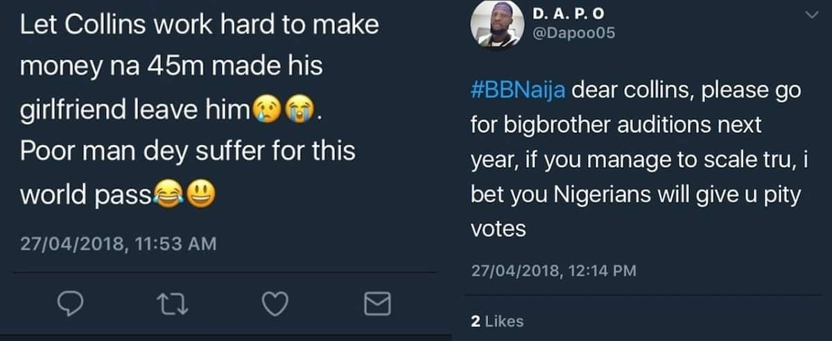 Nigerians lambast Nina for calling her relationship to Collins off on national radio