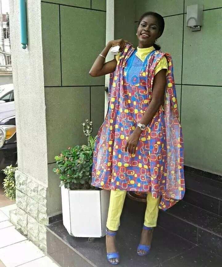 Female native Agbada wears