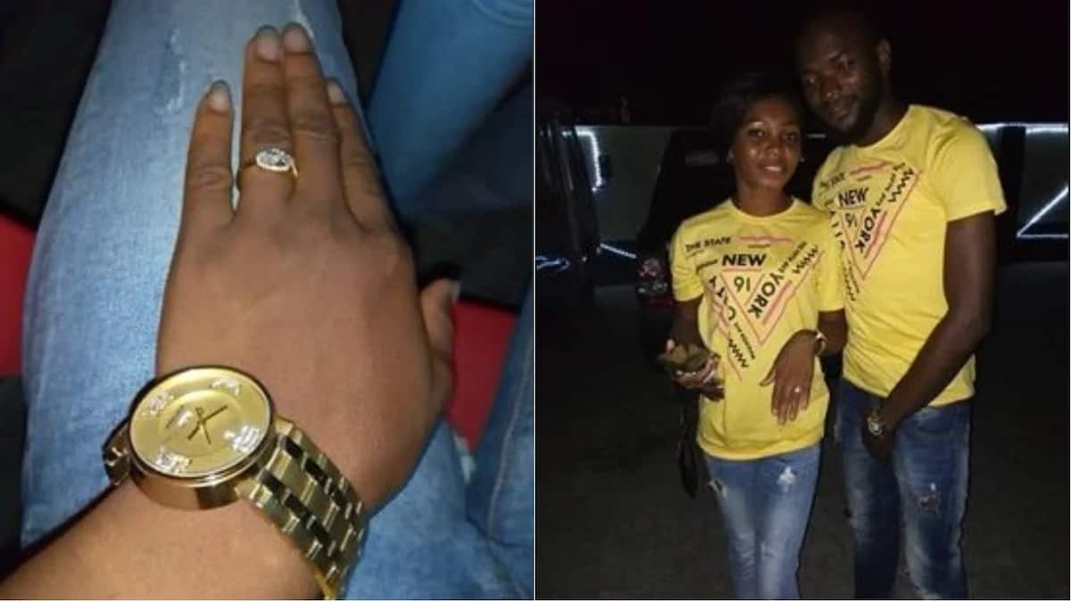Adorable couple get engaged after dating for 2 years