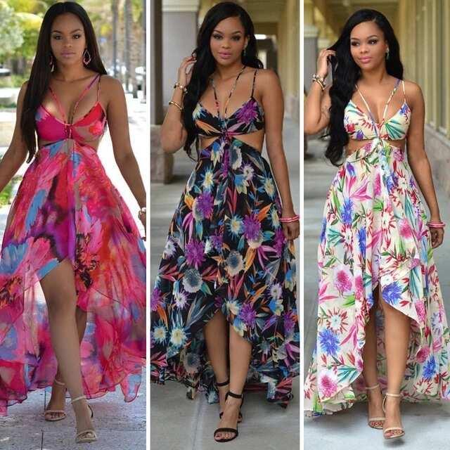 Chiffon maxi dress nigerian
